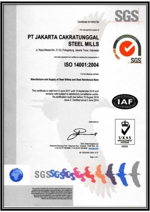 ISO 14001:2004 Sistem Manajemen Lingkungan