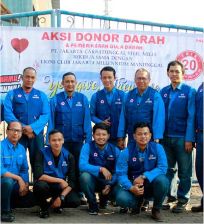 Cakra Steel Blood Donor Action