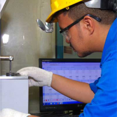 Process of Testing the Quality of Concrete on Cakra Steel Laboratory